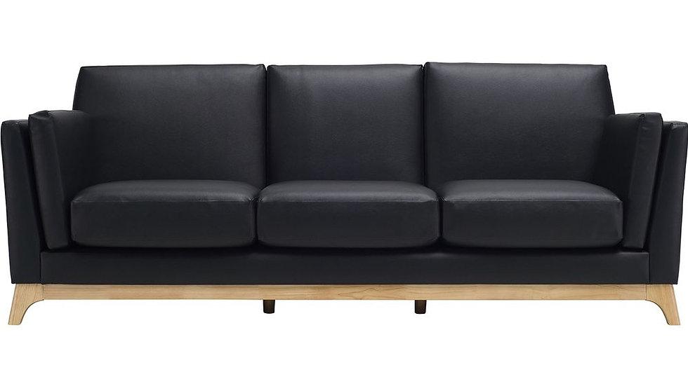 Chloe 3 Seater Sofa - Espresso & Natural