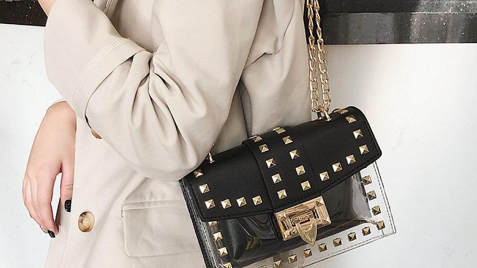 ClaudiaG Betty Shoulder Bag -Clear/Black