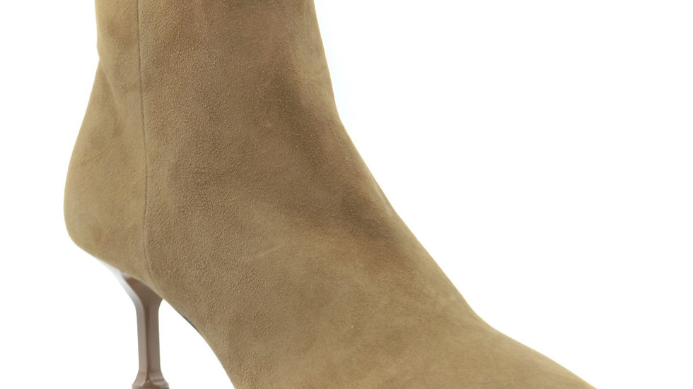 Prada Suede Ankle Boots - Beige