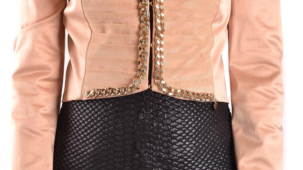 Elisabetta Franchi Women's  Luxury Jacket Beige