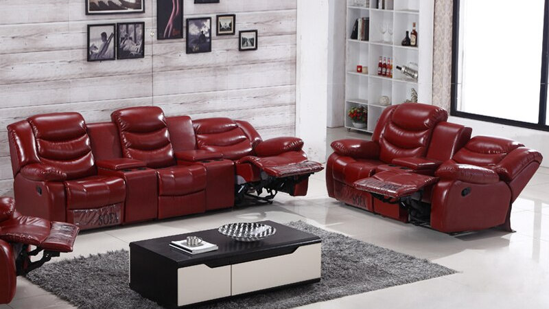 Living Room Recliner  With Cup holder Home Theater Sofa