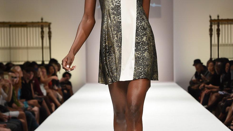 Women's Gold Party Mini  Dress