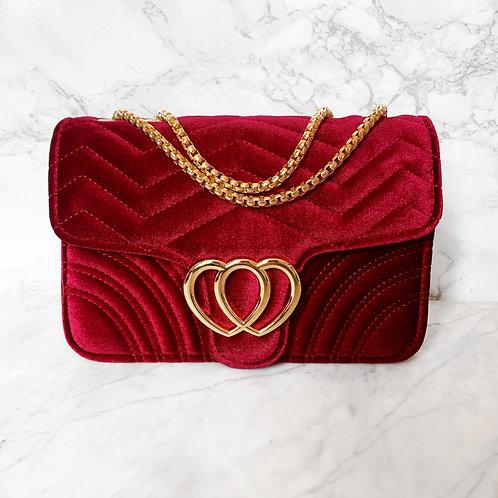 Velluto Handbag Red