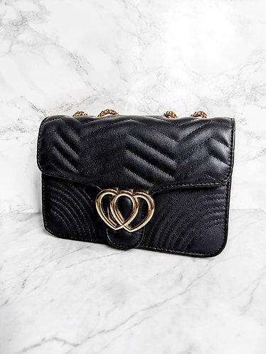 Polly flap bag black