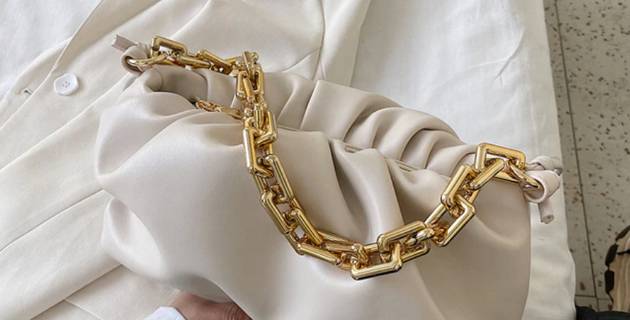 Rome Chain Pouch Nude