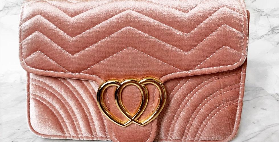 Velluto handbag pink