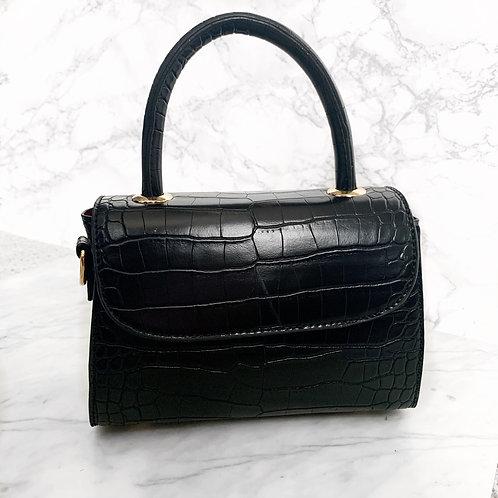 Kika croc bag black
