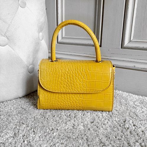 Kika Croc bag Yellow