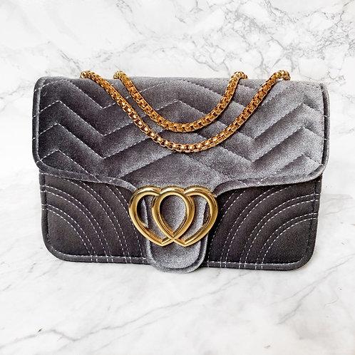 Velluto Handbag Grey