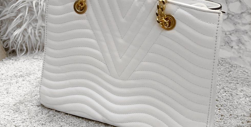 DXB Shoulder bag white