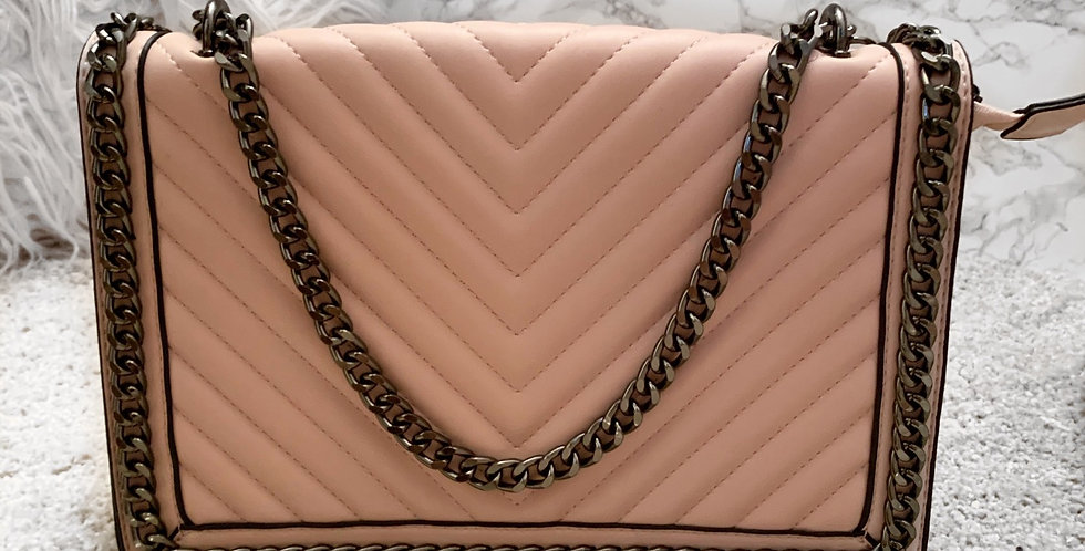 Pink chain bag