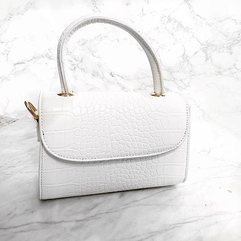 Kika croc bag white