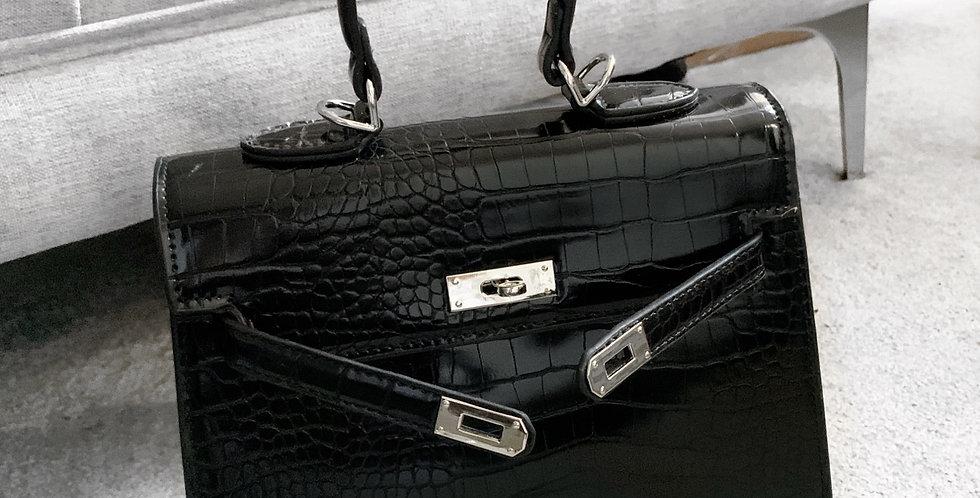 Celia croc bag black