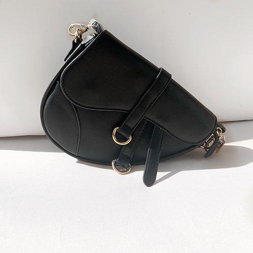 Baby saddle bag black