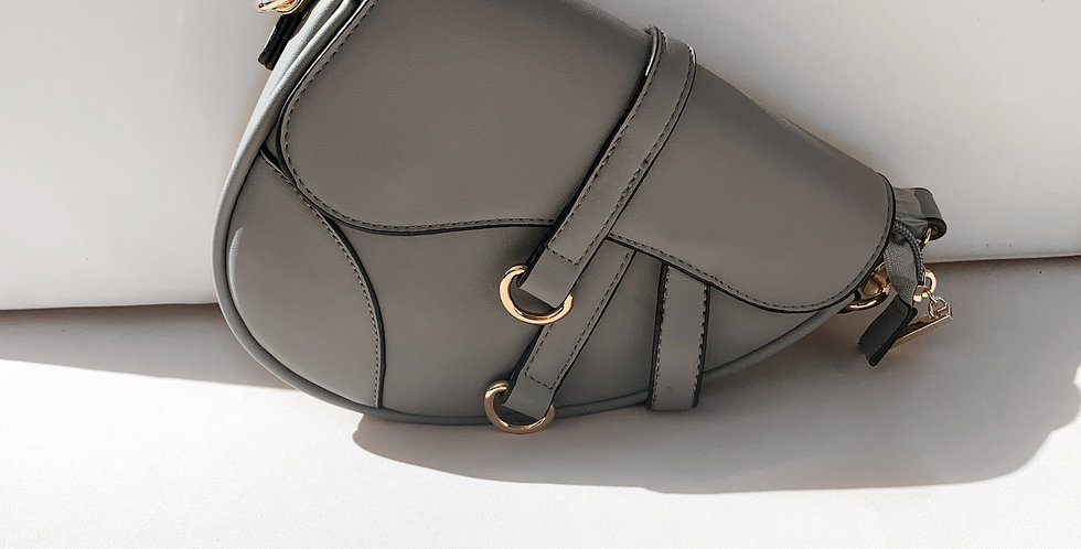Baby saddle bag grey