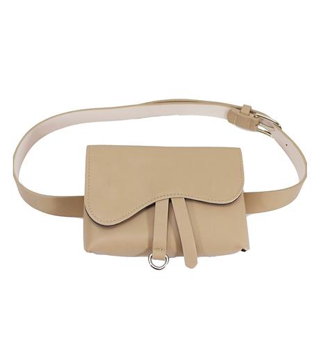 Saddle Belt Bag Beige