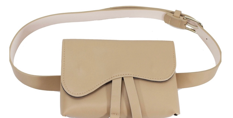 Saddle Belt Bag Beige