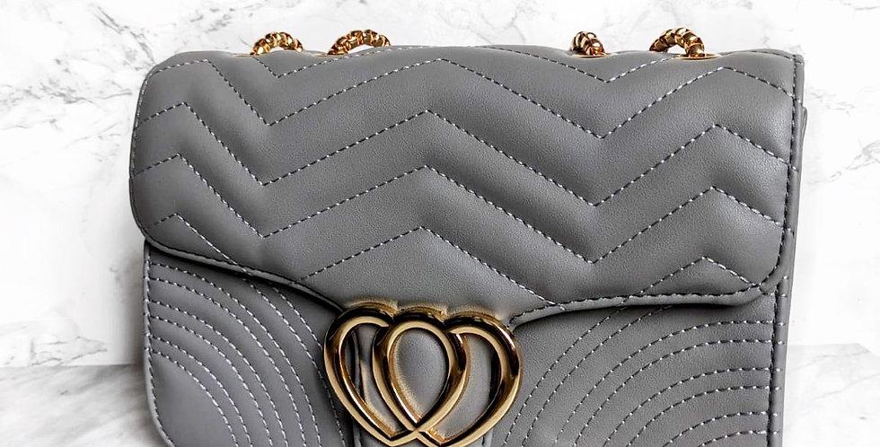 Polly flap bag Grey