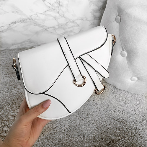 Baby saddle bag white