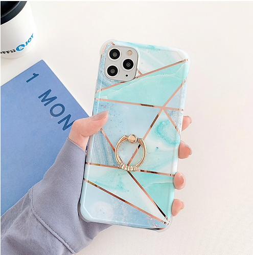 Geometric blue phone case Iphone
