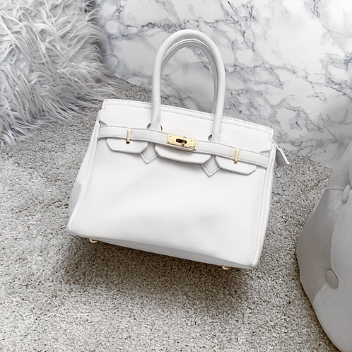 White office bag