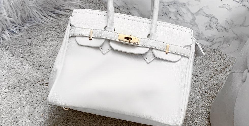 White office bag