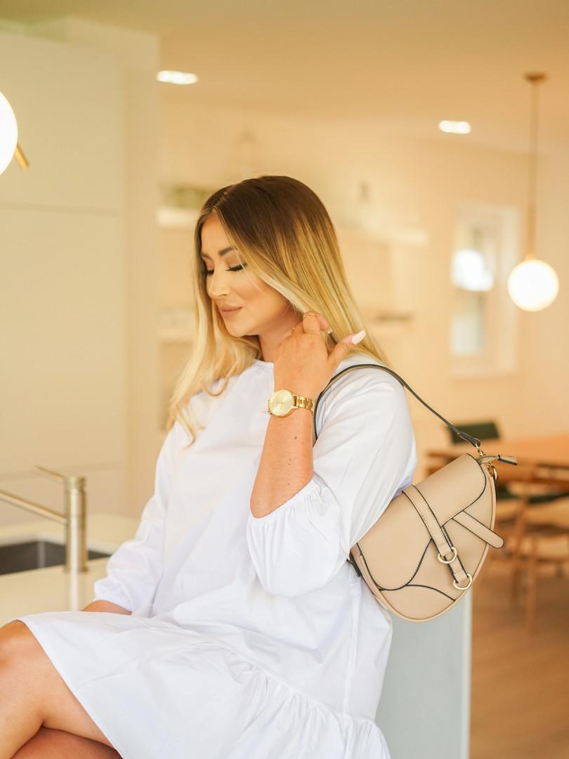 Saddle bag beige