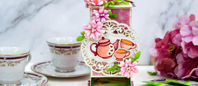 Tea Bags Dispenser Box with Amazing Paper Grace