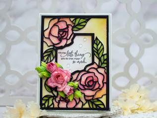 Amazing Paper Grace December Die of the Month Blog Hop – Rose Garden Promise