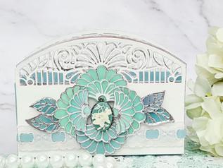 Fan Flower Stained Glass Gift Holder