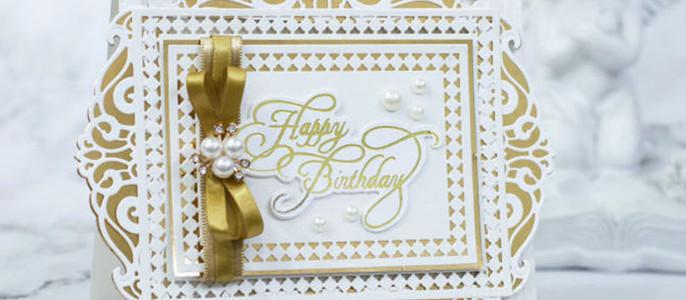 Elegant Card in gold