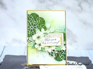Sweet Rondure etched dies card inspiration