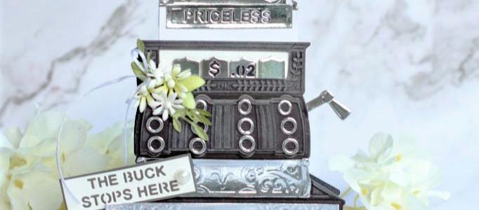 Amazing Paper Grace September Die of the Month Blog Hop – Pop Up 3D Vignette Vintage Cash Re