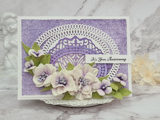 Purple Floral card with Amazing Paper Grace
