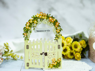 Amazing Paper Grace May Die of the Month Blog Hop – Mini 3D Vignette Garden Gate