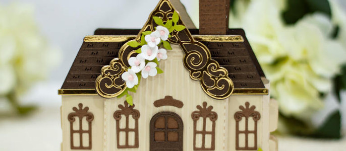 Amazing Paper Grace July Die of the Month Blog Hop – Pop Up 3D Vignette Home Sweet Home