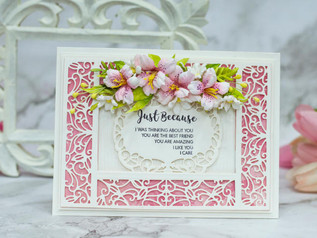 Lacy Delight card with Alstroemeria