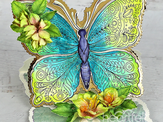 Debuting the Floral Butterfly collection by Heartfelt Creations