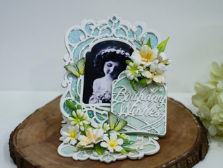 Birthday Wishes Easel card with Amazing Paper Grace