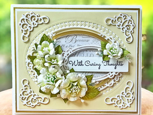 Caring Thoughts Floral Card using Amazing Paper Grace