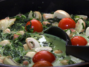 Gerry Curry with Mushrooms and Tomatoes