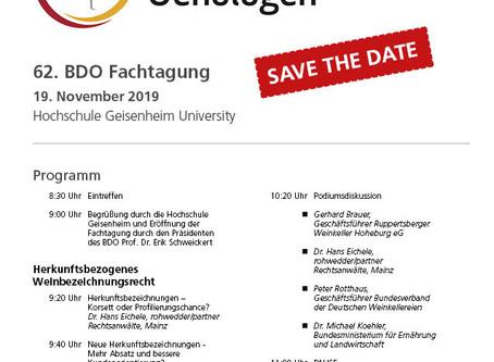 Das Programm der BDO-Tagung steht