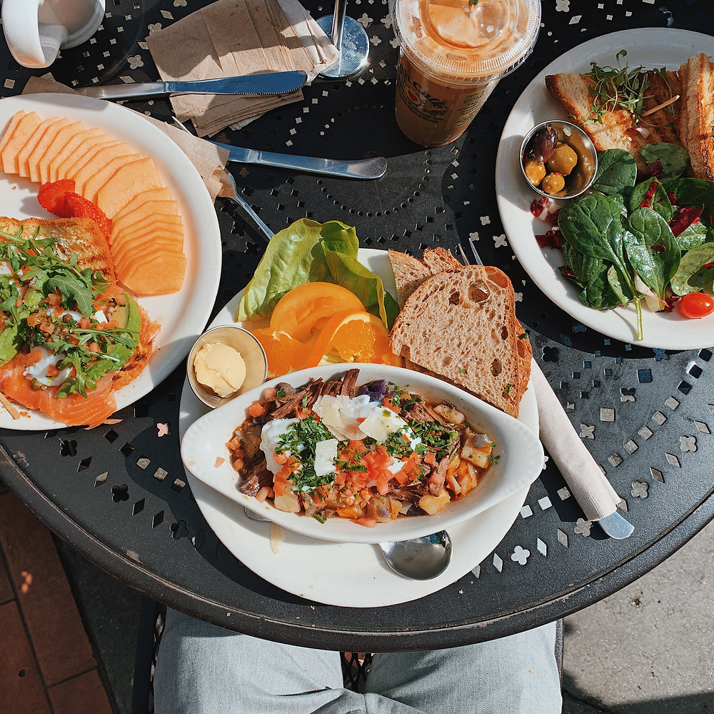 Fabulous brunch at the Urth Caffe in West Hollywood
