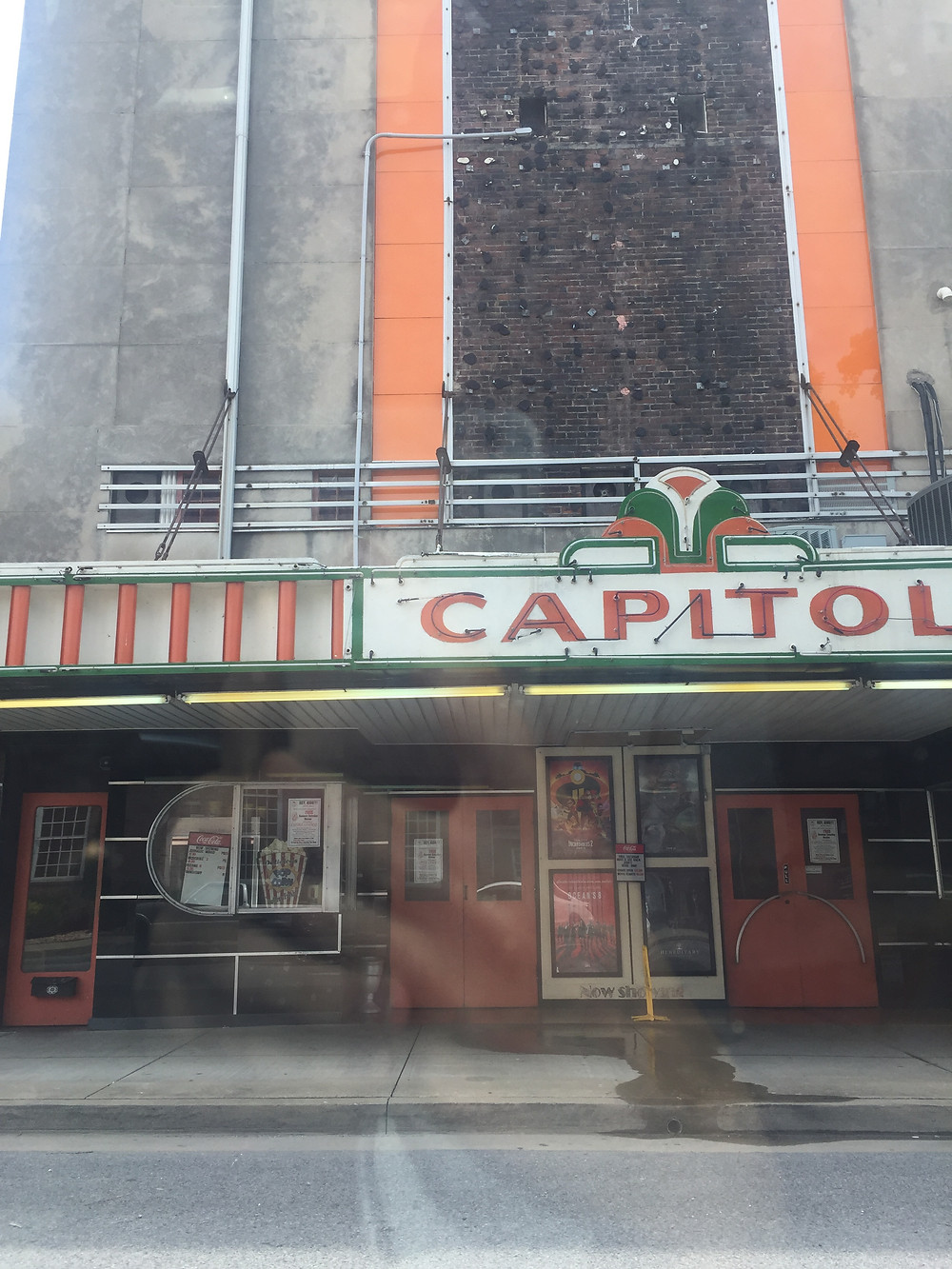 The old cinema in downtown Princeton, Kentucky, international students in us blog, alien thoughts