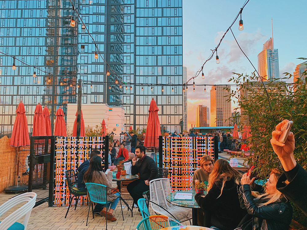 The rooftop bar at Freehand Hotel