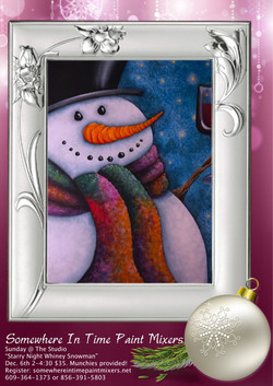 """""""Starry Night Whiney Snowman"""""""