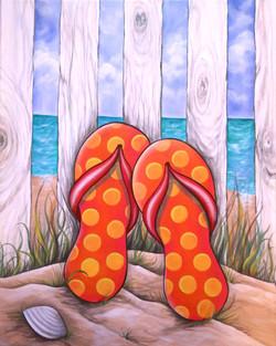 """Flip Flopz @ The Beach"""