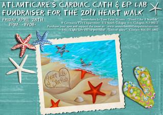 Atlanticare's Cardiac Cath & EP Lab Paint Party Fundraiser For The 2017 Heart Walk