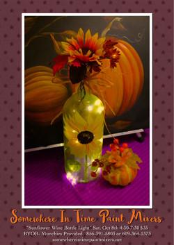 Sunflower Wine Bottle Light