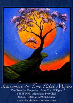 Zen Tree By Moonrise